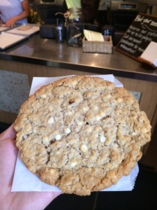 Salted White Chocolate Oatmeal Cookie